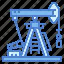 buildings, oil, petroleum, pumpjack icon