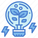 bulb, creative, idea, light, plant icon