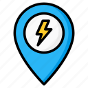 placeholder, location, energy, bolt, electric, electricity icon
