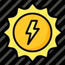 solar, energy, renewable, sustainable, sun icon