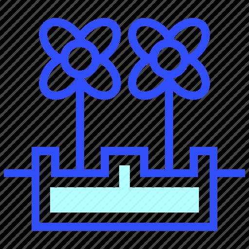 Eco, energy, environment, green, world, hydroponics icon