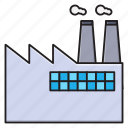 chimney, factory, industry, plant, refinery