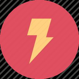 energy, gas, lightning, power icon