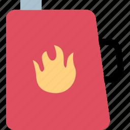 fill, flame, gas, tank icon