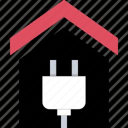 energy, home, house, plug icon