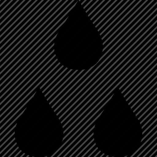 drop, drops, oil, three icon