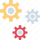 energy, gear, power, working icon