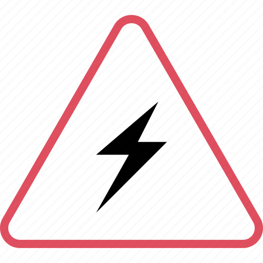 high, power, voltage, warning icon