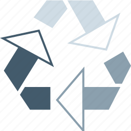 energy, recycle, reuse, reused icon
