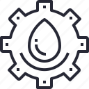 energy, factory, industrial, power, service, water icon