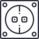 energy, factory, industrial, power, service, socket icon