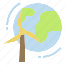 clean, energy, planet, wind, world icon