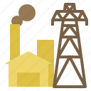 electric, energy, geothermal, manufactoring, plant, power icon
