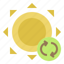 clean, energy, replacement, solar icon