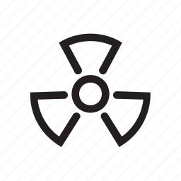 attention, co, danger, ecology, energy, nuclear, power, radiation, reactor icon