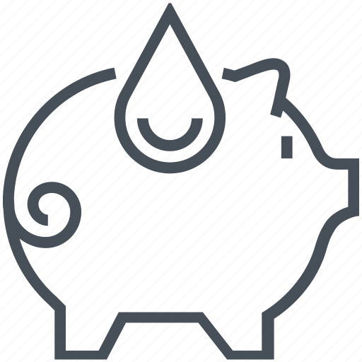 green, pig, pollution, save, water icon