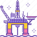 industry, water, sea, industrial, .svg, offshore, plant, platform, rig icon