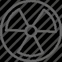 circle, energy, industry, radiation, radioactive, sign, warning