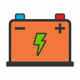 accumulator, battery, electricity, energy icon