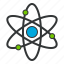 atom, atomic, chemistry, electron, energy icon