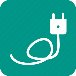 adapter, charger, socket, wire icon