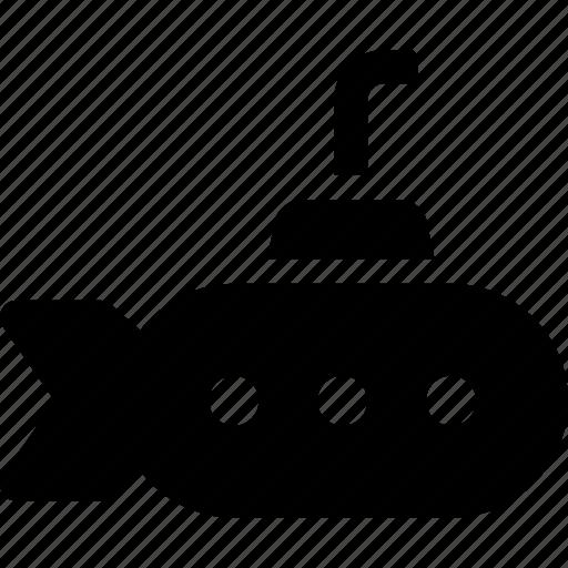 nautical, sea, submarine, transport, underwater, vehicle icon