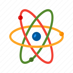 atom, atomic model, molecule, nuclear, particle, physics, science icon