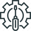 cog, cogwheel, engineering, screwdriver icon
