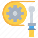 cog, design, fix, industrial, process, tool icon