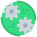 cog, engineering, industry, management, process icon