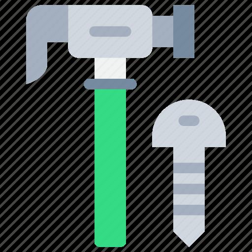 construction, equipment, hammer, tool icon