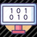 0, 1, binary, code, digital, one, zero icon