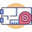 architecture, area, building, floor, layout, measurement, plan icon
