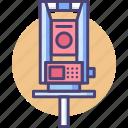 engineering, equipment, geodetic, geology, instrument, survey, tool icon