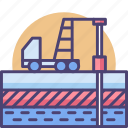 core, deep, drill, earth, geological, soil, survey icon