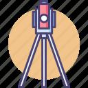 engineering, equipment, geology, gyro, survey, surveyor, theodolite icon