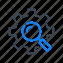 engineering, engineer, gear, cog, search, settings