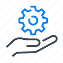 engineering, engineer, hand, gear, cog, technology