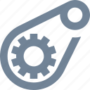cog, engineering, gear, machine, progress, technology, transmission icon