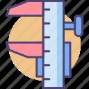 caliper, measurement, tool icon