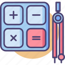 calculate, calculation, estimate, mathematics, maths icon