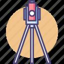 gyro, gyrotheodolite, surveying, theodolite icon
