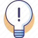 idea, light bulb, lightbulb icon