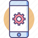 engineering, mobile, mobile engineering icon