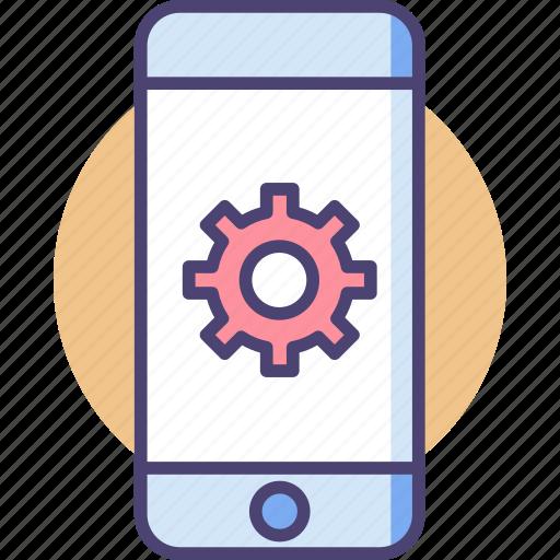 engineering, mobile, mobile engineering icon