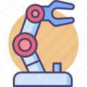 engineering, robot, robotic, robotic arm icon
