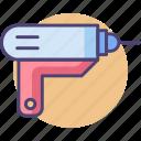 gun, hot glue gun, soldering, soldering gun icon