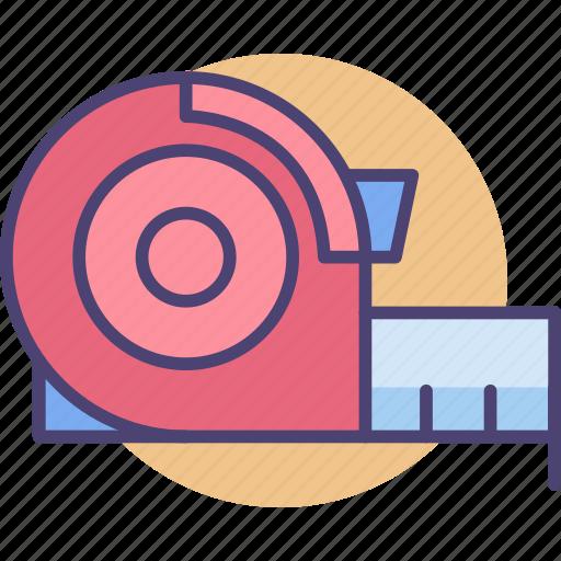 Measure, measurement tape, tape, tape measurement icon - Download on Iconfinder