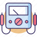 device, equipment, meter, volt, volt meter icon