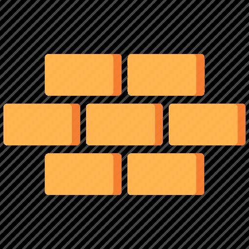 brick, brickwork, building, construction, material, stone, wall icon